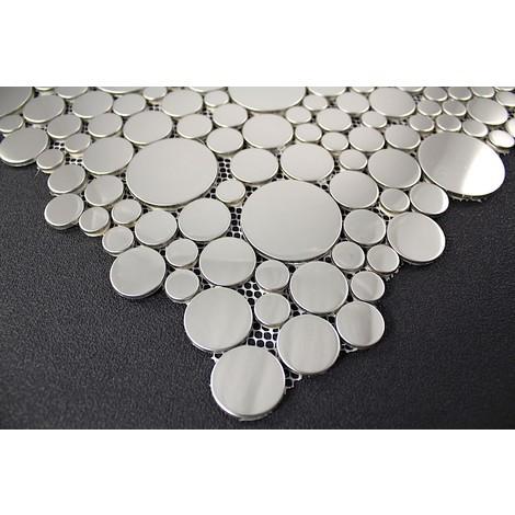 mosaicos de acero inoxidable espejo suelos y paredes de ducha y baño Focus Miroir