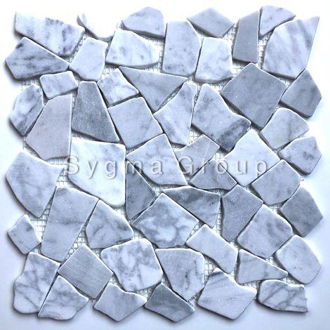 Mosaicos Pisos y paredes de mármol de piedra para el piso y la pared del baño Oria Blanc