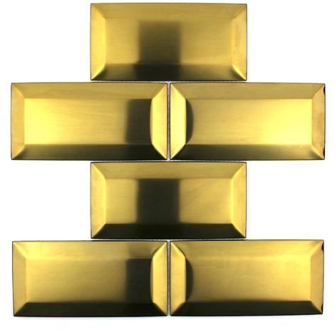 mosaik edelstahl fur wand-credence kuche mi-metro-or - mos-in-metro-gold