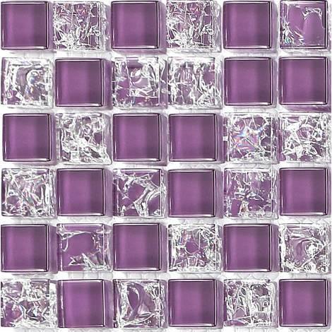 Klien Fliesen Muster Glas mit gebrochenem klarem Glas Effekt in Violett  (MT0070)