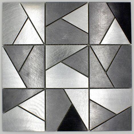 mosaique acier carrelage metal mur cuisine et salledebain in-sierra