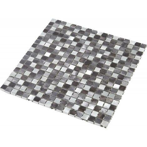 """main image of """"Mosaïque Alu - Gris - 1.5 x 1.5 cm"""""""