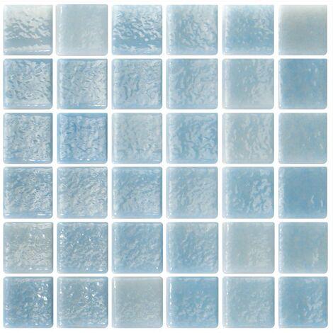 Mosaique bleu ciel 5x5 sur trame 30.7x30.7 NIEBLA PISCINA A-10 - 2 m²