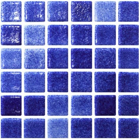 Mosaique bleu marine 5x5 sur trame 30.7x30.7 NIEBLA FUERTE A-10 - 2 m²