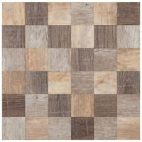Mosaique Bois - 30,5 x 30,5 cm - Marron