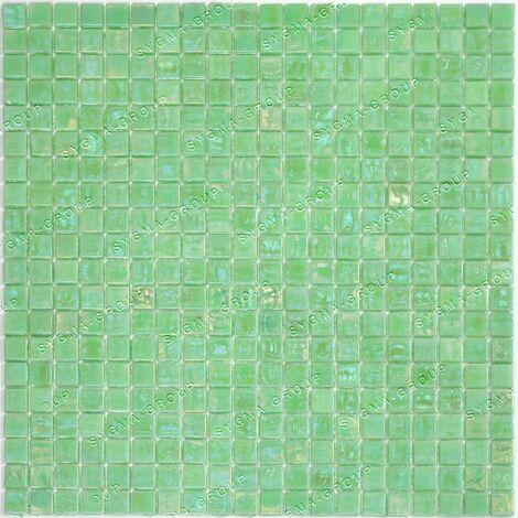 Mosaique carrelage pate de verre salle de bain et cuisine Plaza Bleu Cobalt