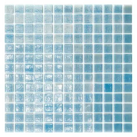 Mosaique de piscine bleue ciel LIMPIA 33.4x33.4 cm - 2 m²