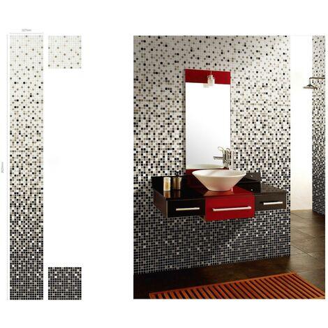 Mosaique en degrade couleur pour mur de décoration salle de bain pdv-art-nyla