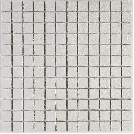 Mosaique en résine imitation pierre 30 x 30 cm - carreau 2,5 x 2,5 cm blanc