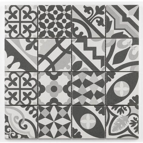 """main image of """"Mosaique grès cérame patchwork blanc white mosaïque 31.8x31.8cm KEG-14072 - unité"""""""