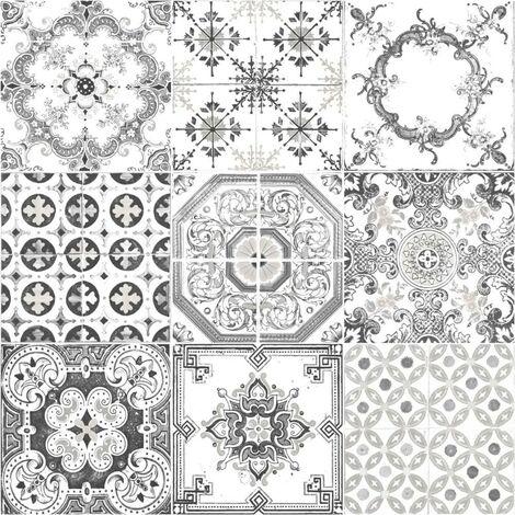 Mosaique gris J95609 Vinyle sur expansé