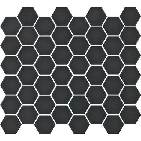 Mosaïque hexagonale Matt black 33x29,8
