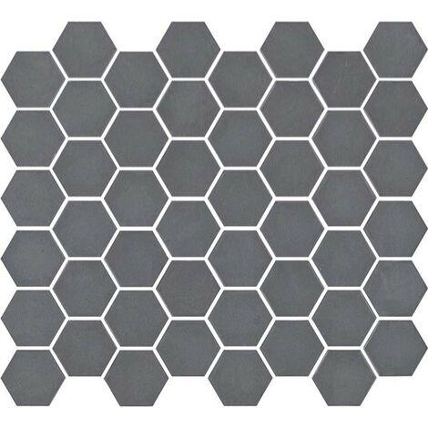 Mosaïque hexagonale Matt grey 33x29,8