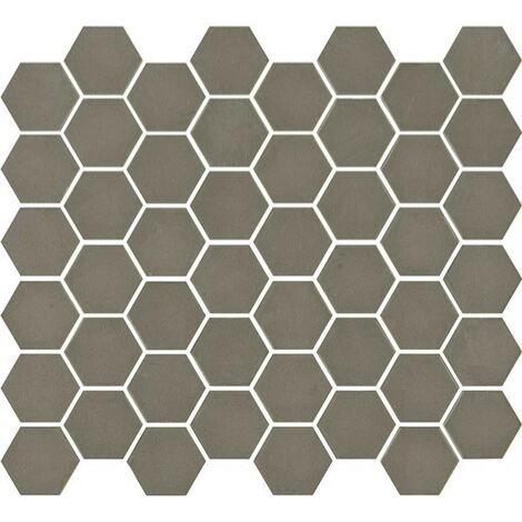 Mosaïque hexagonale Matt taupe 33x29,8