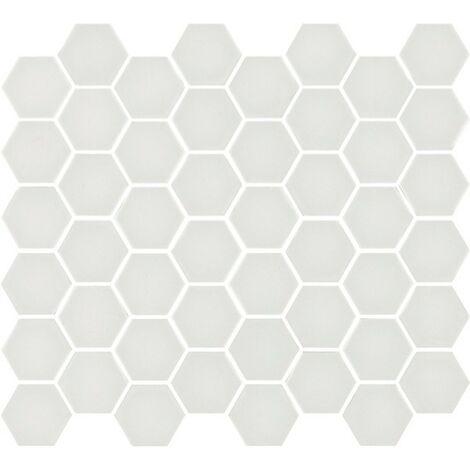 Mosaïque hexagonale Matt white 33x29,8