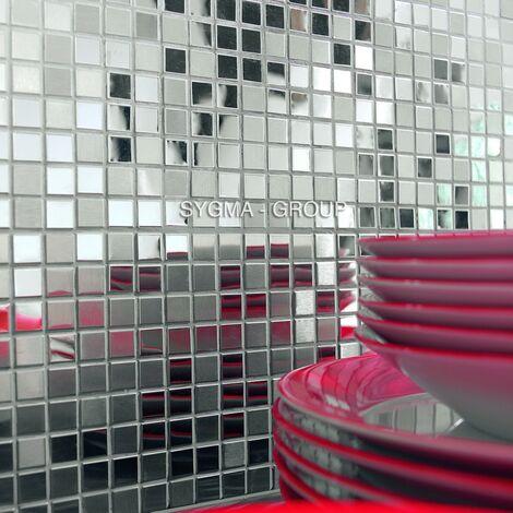 mosaique inox pour cuisine et salle de bains Fusion