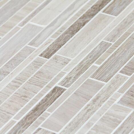 Mosaïque Marbre Gris Astille Lamelles - vendu par carton de 0.75 m² - Gris