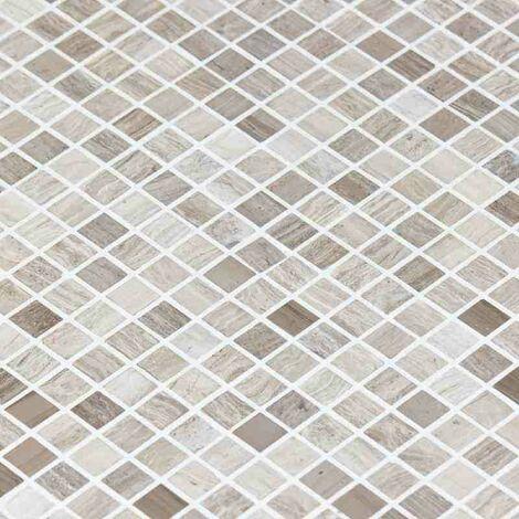 Mosaïque Marbre Gris Astille - vendu par carton de 0.47 m² - Gris