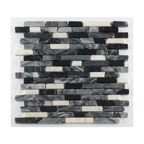 Mosaique marbre noir