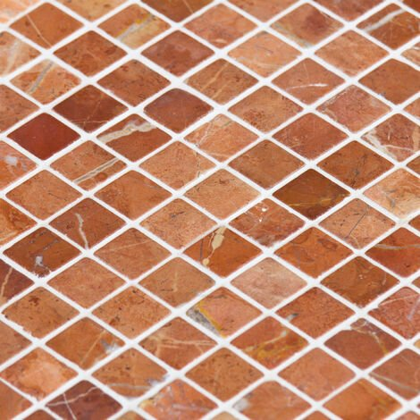 Mosaïque Marbre Rouge Alicante - vendu par carton de 0.72 m² - Rouge