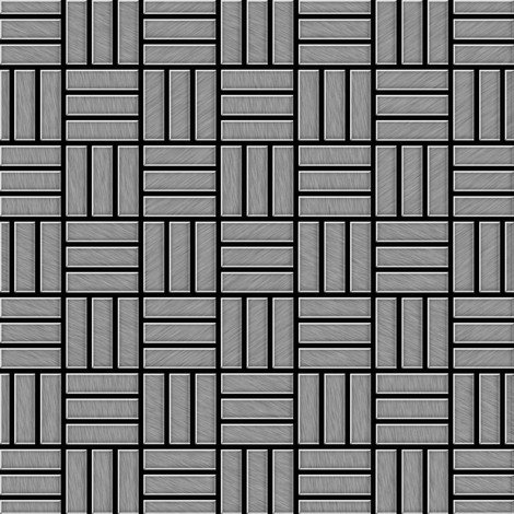 Mosaïque métal massif Carrelage Acier inoxydable brossé gris Grosseur 1,6mm ALLOY Basketweave-S-S-B 0,82 m2