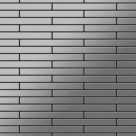 Mosaïque métal massif Carrelage Acier inoxydable brossé gris Grosseur 1,6mm ALLOY Deedee-S-S-B 0,78 m2
