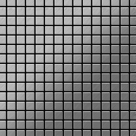 Mosaïque métal massif Carrelage Acier inoxydable brossé gris Grosseur 1,6mm ALLOY Mosaic-S-S-B 1,04 m2