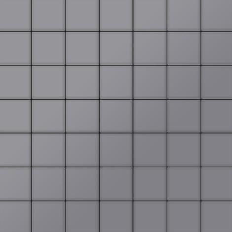 Mosaïque métal massif Carrelage Acier inoxydable matt gris Grosseur 1,6mm ALLOY Attica-S-S-MA 0,85 m2