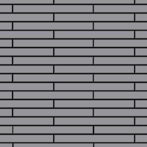 Mosaïque métal massif Carrelage Acier inoxydable matt gris Grosseur 1,6mm ALLOY Avenue-S-S-MA 0,74 m2