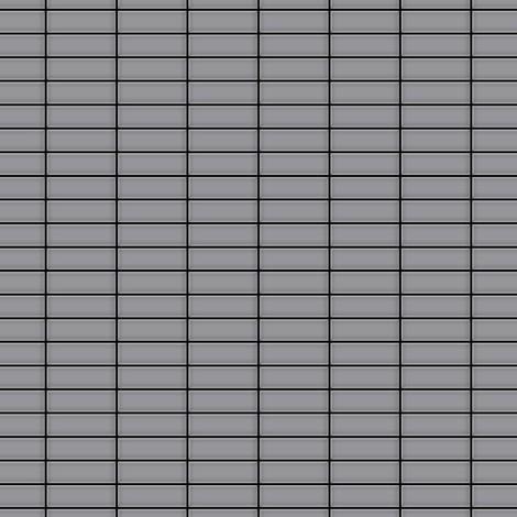Mosaïque métal massif Carrelage Acier inoxydable matt gris Grosseur 1,6mm ALLOY Cabin-S-S-MA 1,01 m2