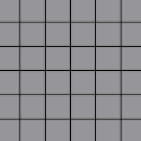 Mosaïque métal massif Carrelage Acier inoxydable matt gris Grosseur 1,6mm ALLOY Cinquanta-S-S-MA 0,94 m2