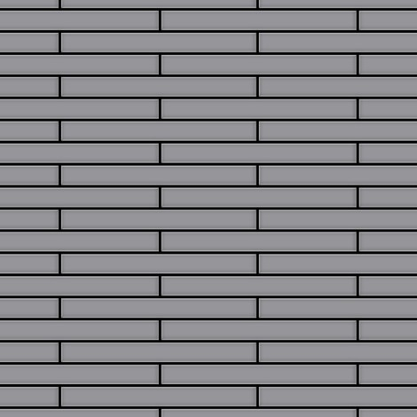 Mosaïque métal massif Carrelage Acier inoxydable matt gris Grosseur 1,6mm ALLOY Deedee-S-S-MA 0,78 m2