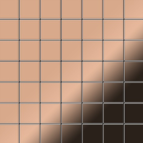 Mosaïque métal massif Carrelage Cuivre laminé cuivre Grosseur 1,6mm ALLOY Attica-CM 0,85 m2