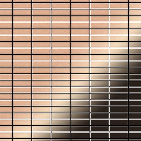 Mosaïque métal massif Carrelage Cuivre laminé cuivre Grosseur 1,6mm ALLOY Cabin-CM 1,01 m2