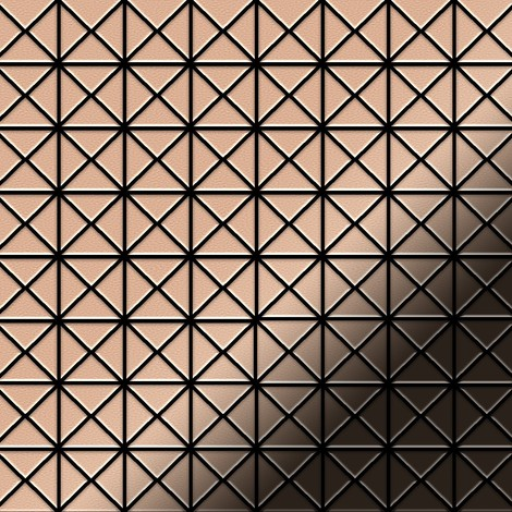 Mosaïque métal massif Carrelage Cuivre laminé cuivre Grosseur 1,6mm ALLOY Deco-CM 1 m2
