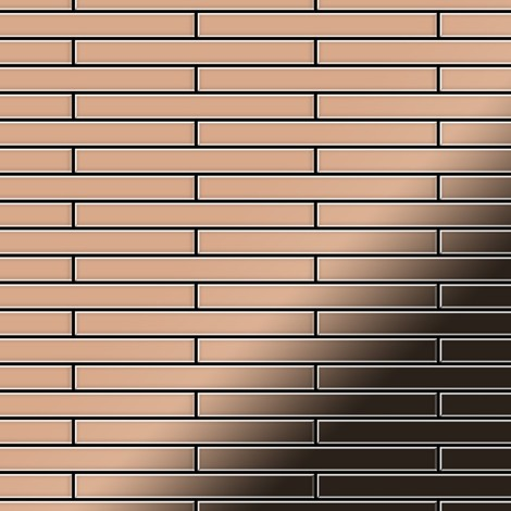 Mosaïque métal massif Carrelage Cuivre laminé cuivre Grosseur 1,6mm ALLOY Deedee-CM 0,78 m2