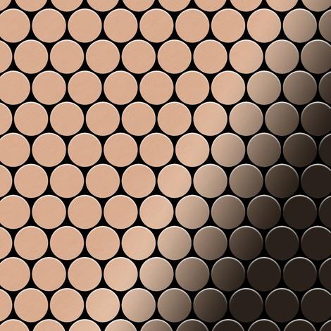 Mosaïque métal massif Carrelage Cuivre laminé cuivre Grosseur 1,6mm ALLOY Dollar-CM 0,88 m2