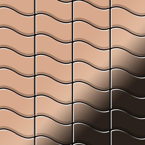 Mosaïque métal massif Carrelage Cuivre laminé cuivre Grosseur 1,6mm ALLOY Flux-CM dessiné par Karim Rashid0,86 m2