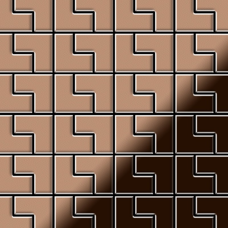 Mosaique Metal Massif Carrelage Cuivre Lamine Cuivre Grosseur 1 6mm Alloy Kink Cm Dessine Par Karim Rashid0 93 M2 Kink Kink Cm