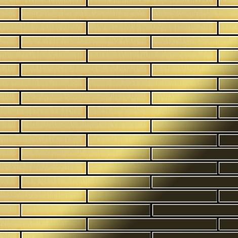 Mosaïque métal massif Carrelage Laiton laminé doré Grosseur 1,6mm ALLOY Avenue-BM 0,74 m2