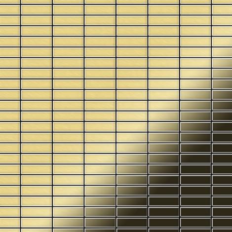 Mosaïque métal massif Carrelage Laiton laminé doré Grosseur 1,6mm ALLOY Cabin-BM 1,01 m2
