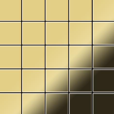 Mosaïque métal massif Carrelage Laiton laminé doré Grosseur 1,6mm ALLOY Century-BM 0,5 m2