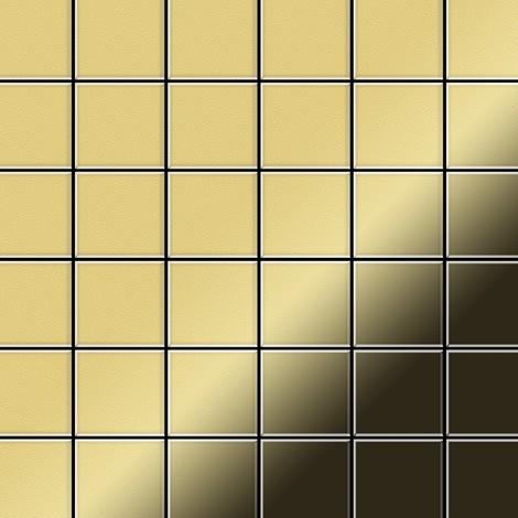Mosaïque métal massif Carrelage Laiton laminé doré Grosseur 1,6mm ALLOY Cinquanta-BM 0,94 m2