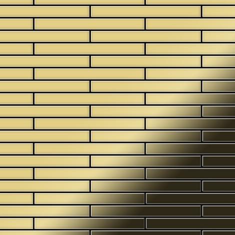 Mosaïque métal massif Carrelage Laiton laminé doré Grosseur 1,6mm ALLOY Deedee-BM 0,78 m2
