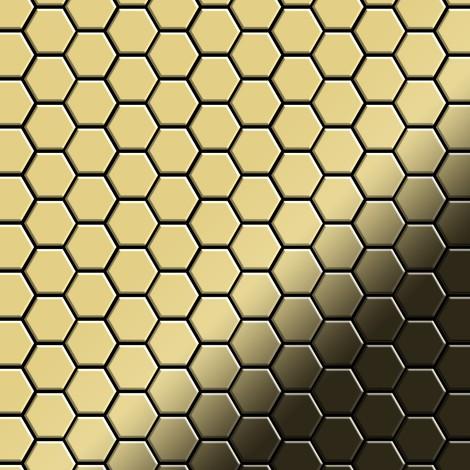 Mosaïque métal massif Carrelage Laiton laminé doré Grosseur 1,6mm ALLOY Honey-BM 0,92 m2