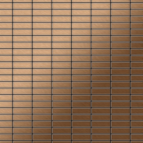 Mosaïque métal massif Carrelage Titane brossé Amber cuivre Grosseur 1,6mm ALLOY Cabin-Ti-AB 1,01 m2
