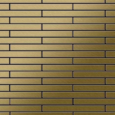 Mosaïque métal massif Carrelage Titane brossé Gold doré Grosseur 1,6mm ALLOY Avenue-Ti-GB 0,74 m2