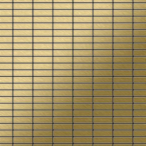 Mosaïque métal massif Carrelage Titane brossé Gold doré Grosseur 1,6mm ALLOY Cabin-Ti-GB 1,01 m2