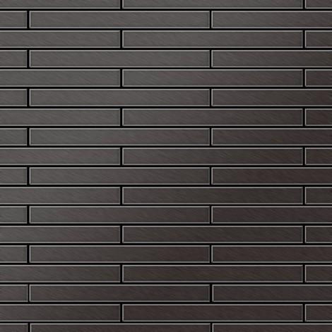 Mosaïque métal massif Carrelage Titane brossé Smoke gris foncé Grosseur 1,6mm ALLOY Avenue-Ti-SB 0,74 m2