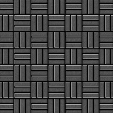 """main image of """"Mosaïque métal massif Carrelage Titane brossé Smoke gris foncé Grosseur 1,6mm ALLOY Basketweave-Ti-SB 0,82 m2"""""""
